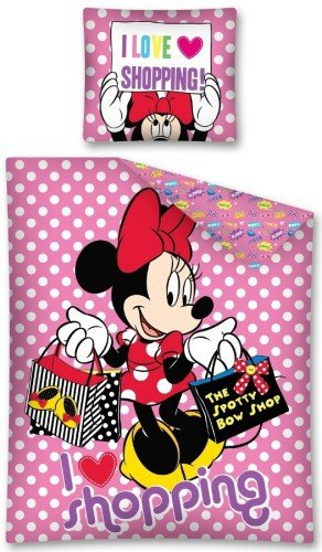 Minnie Mouse Dekbedovertrek Shopping 5901685602358