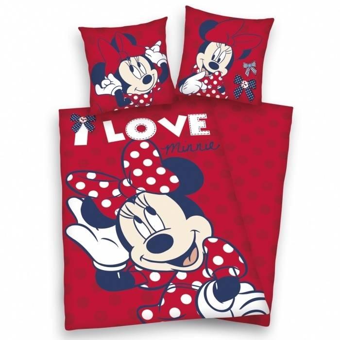 Minnie Mouse Dekbedovertrek I Love MM13092-140