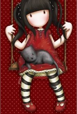 Santoro London Gorjuss Santoro Handdoek Red Girl on Swing