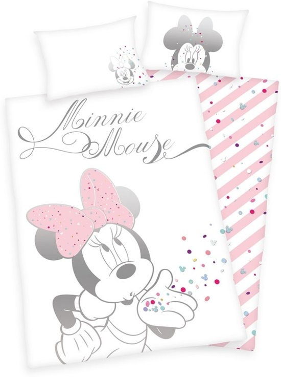 Disney Minnie Mouse  Junior Dekbedovertrek Confetti