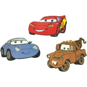 Cars Decoratie Stickers Foam 3in1 5410905236636