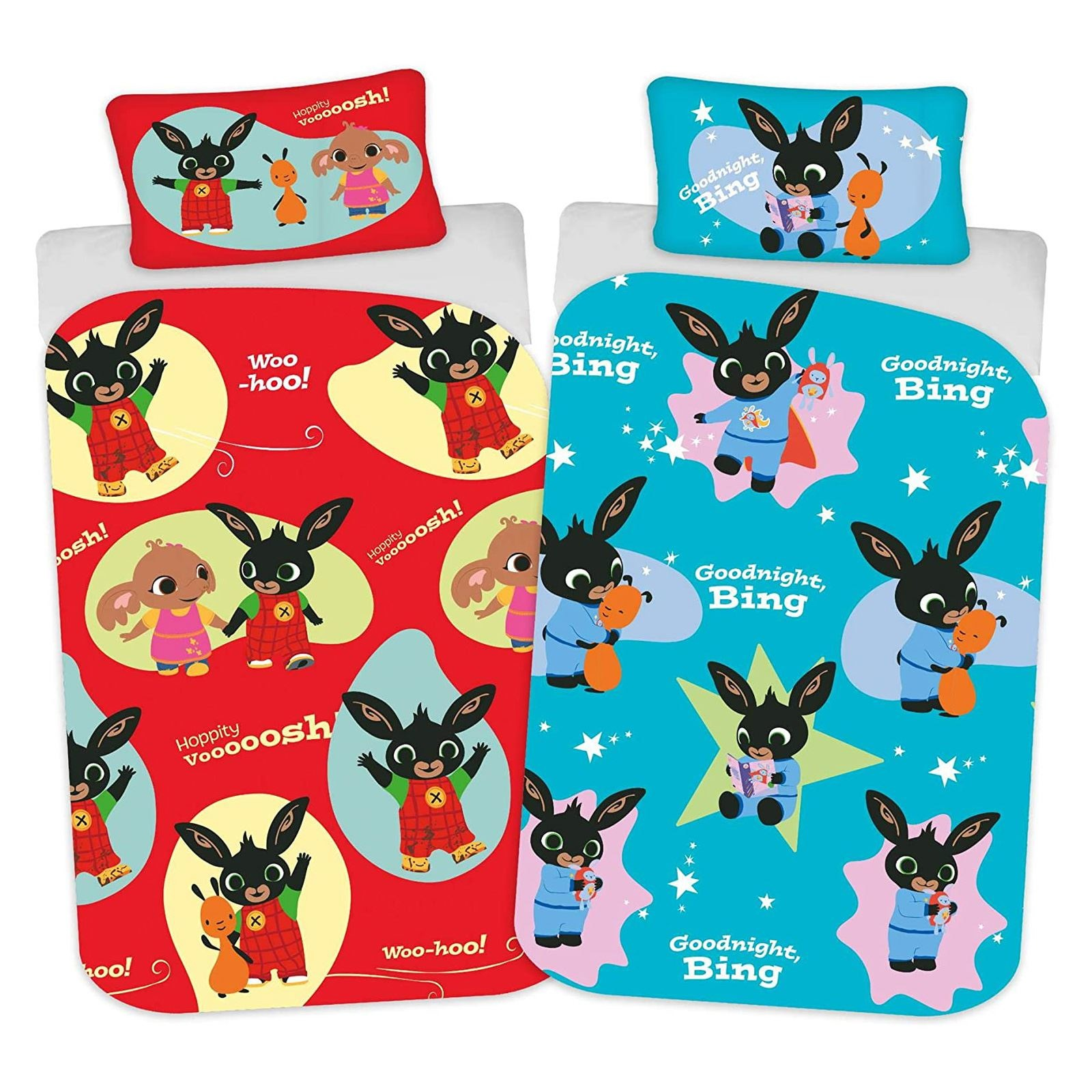 Bing Bunny Bing Bunny Junior Duvet Cover Set Hoppity Voosh Whoosh