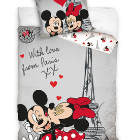 Disney Mickey Minnie Mouse Duvet Cover Set Paris