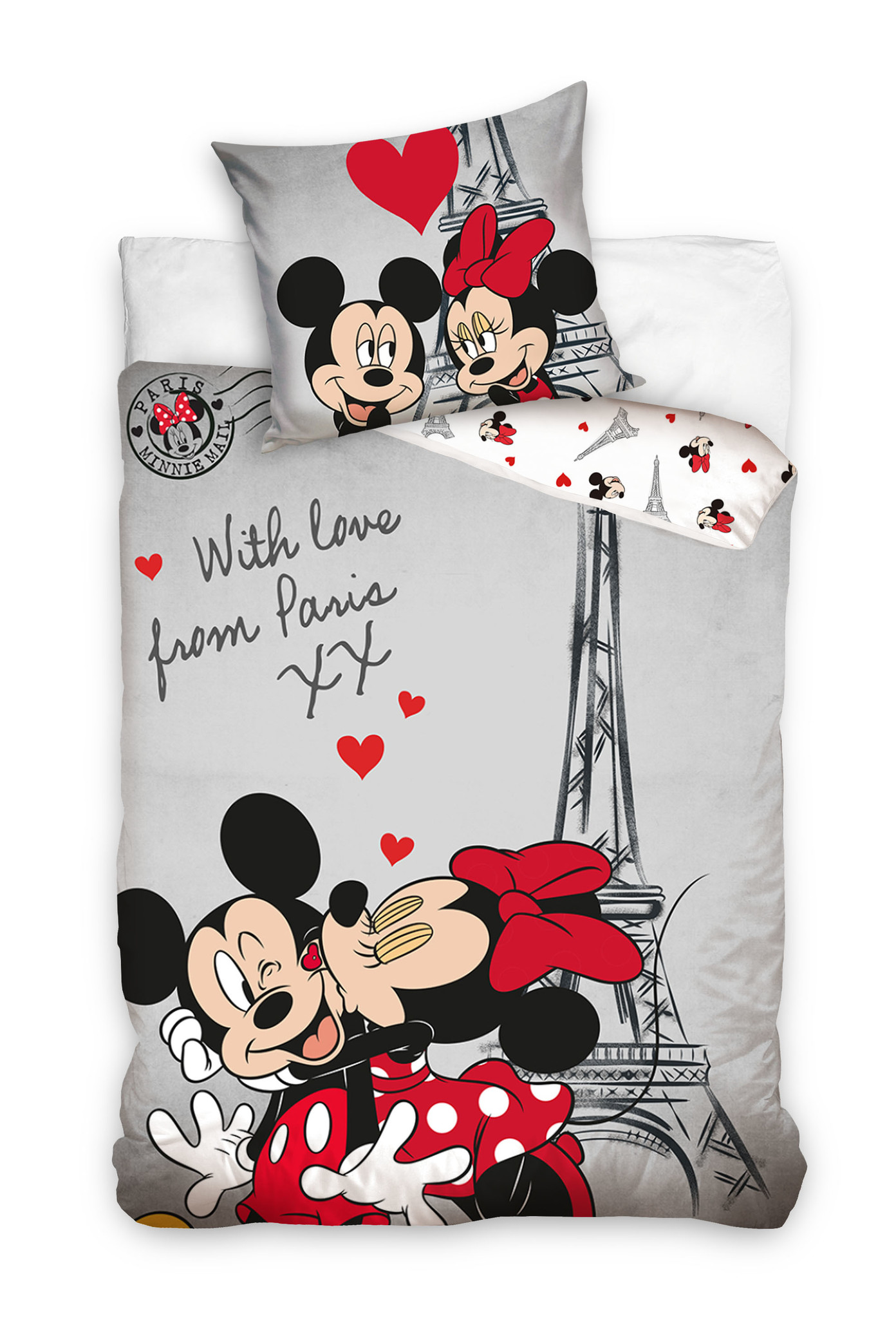Disney Mickey Minnie Mouse Duvet Cover Set Paris