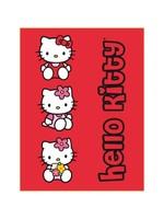 Sanrio  Hello Kitty Fleece Deken Bloemmetjes