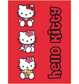 Sanrio  Hello Kitty Fleece Deken Bloemmetjes