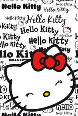 Sanrio  Hello Kitty Fleece Deken Wit