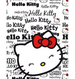 Sanrio  Hello Kitty Fleece Deken Wit