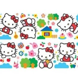 HELLO KITTY DECORATIE STICKERS HUIS