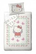 Hello Kitty Dekbedovertrek 140x200 Katoen HK08177-Cream