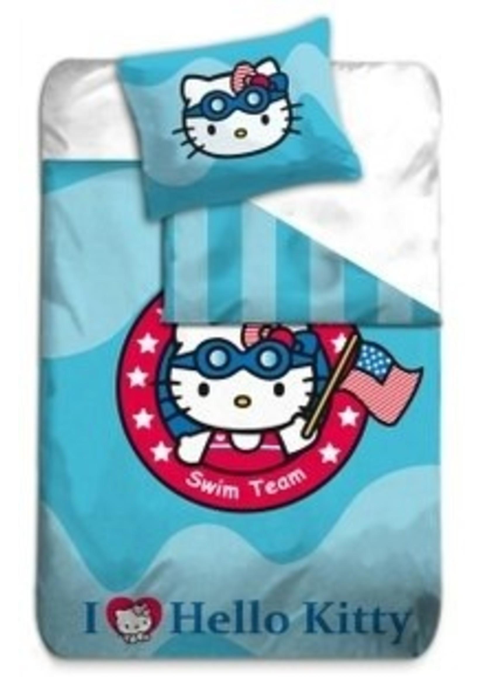 Hello Kitty Dekbedovertrek 140x200 Katoen Swim TeamHK08176