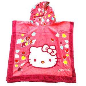 Handdoek Hello Kitty.Hello Kitty Poncho Handdoek 60x120