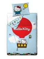 Sanrio  Hello Kitty Organic Katoen Dekbedovertrek Balloon Rood