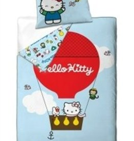 Hello Kitty Organic Katoen Dekbedovertrek Balloon Rood