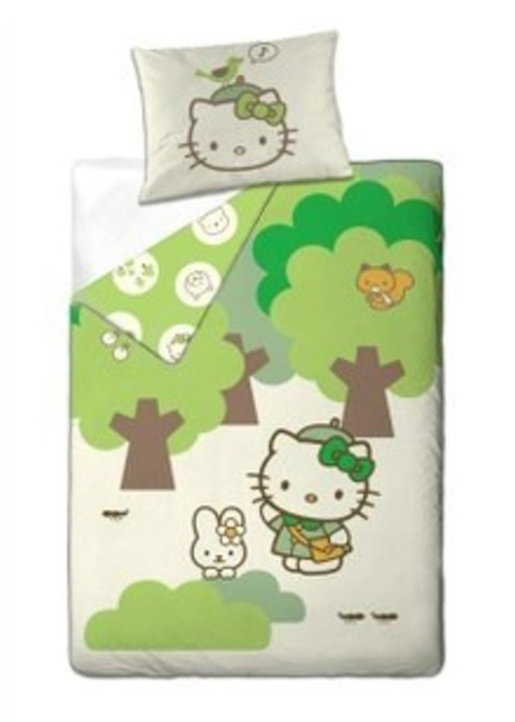 Hello Kitty Dekbedovertrek 140x200 Organic Katoen Bomen HK08177-OKB