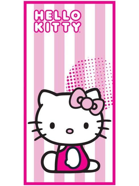 Handdoek Hello Kitty.Sanrio Hello Kitty Handdoek Candy Stripe