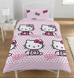 Hello Kitty Dekbedovertrek Set Rijen 5013259301205