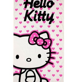 Hello Kitty Handdoek Hartjes