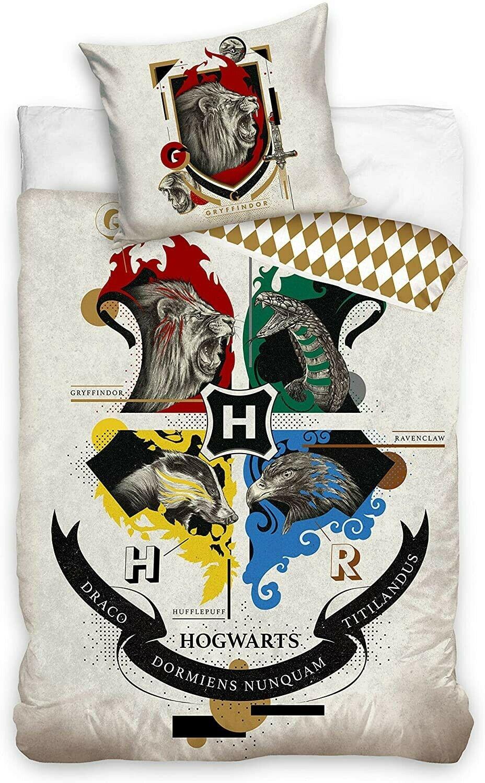 Warner Bros   Harry Potter Dekbedovertrek Hogwarts Dieren