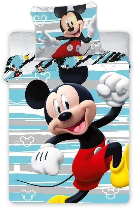 CharactersMania Mickey Mouse Dekbedovertrek Junior 100x135 Katoen