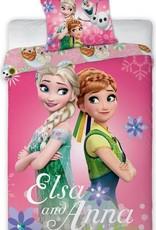 CharactersMania Disney Elsa en Anna Eenpersoons Beddekovertrek 100 cm x 135cm