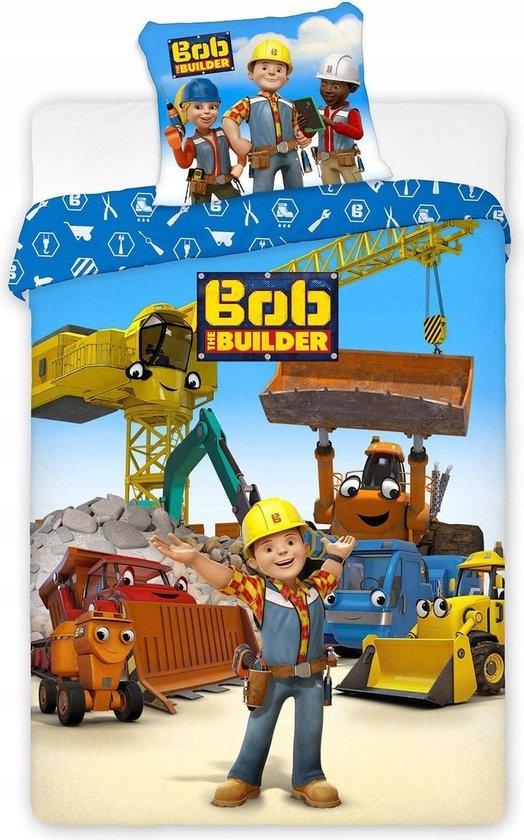 CharactersMania Bob de Bouwer dekbedovertrek  140 cm x 200 cm, 100% katoen  met 1 kussensloop - Copy