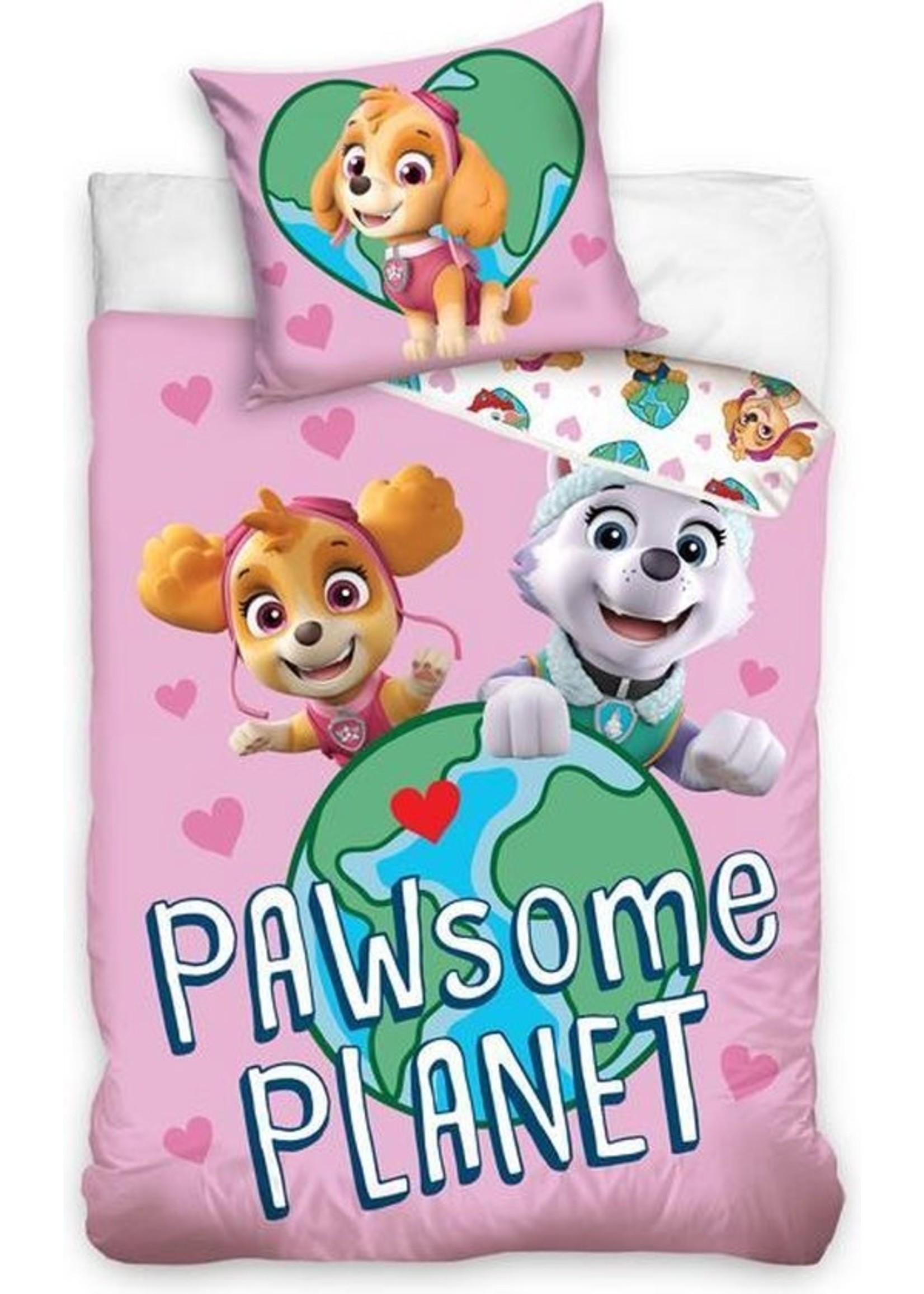PAW Patrol Dekbedovertrek Pawsome Planet - Eenpersoons - 140x200 cm
