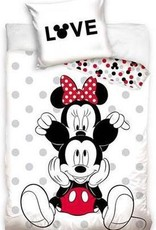 CharactersMania Minnie & Mickey Mouse dekbedovertrk 140x200cm