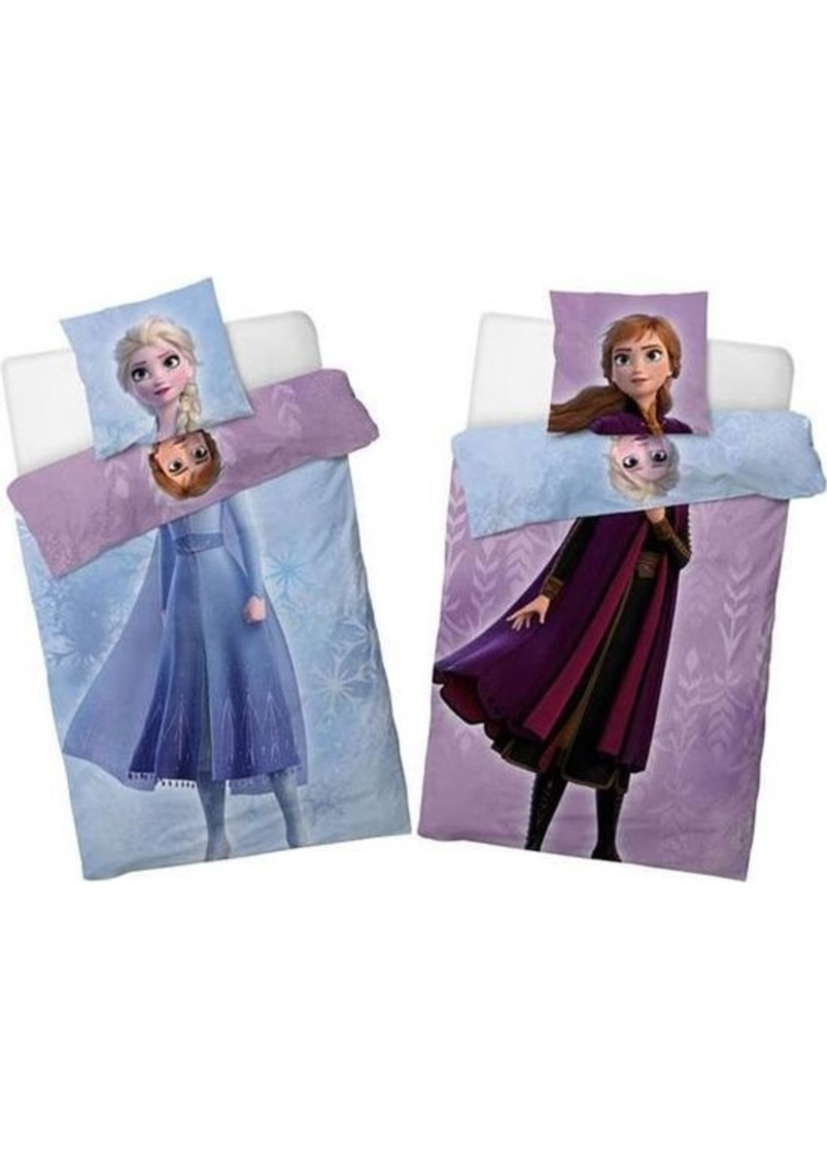 Frozen Dekbedovertrek Double Face Anna & Elsa 140x200cm