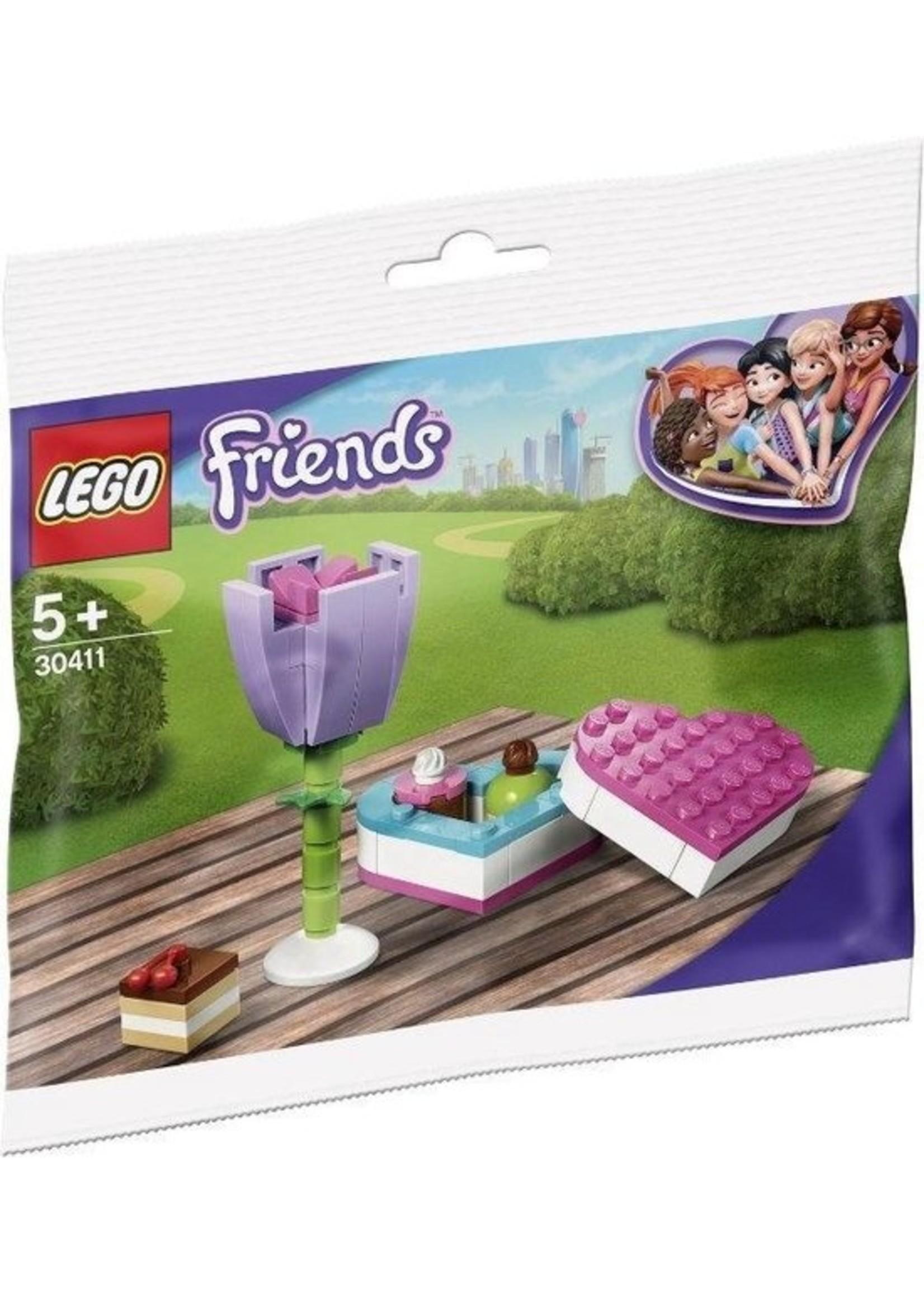 LEGO Friends Snoepdoos en Bloem (Polybag) 30411