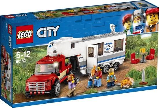 CharactersMania LEGO City Pick-uptruck en Caravan - 60182