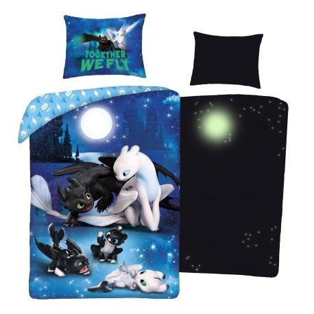 Dreamworks How to Train your Dragon Dekbedovertrek Glow in the Dark