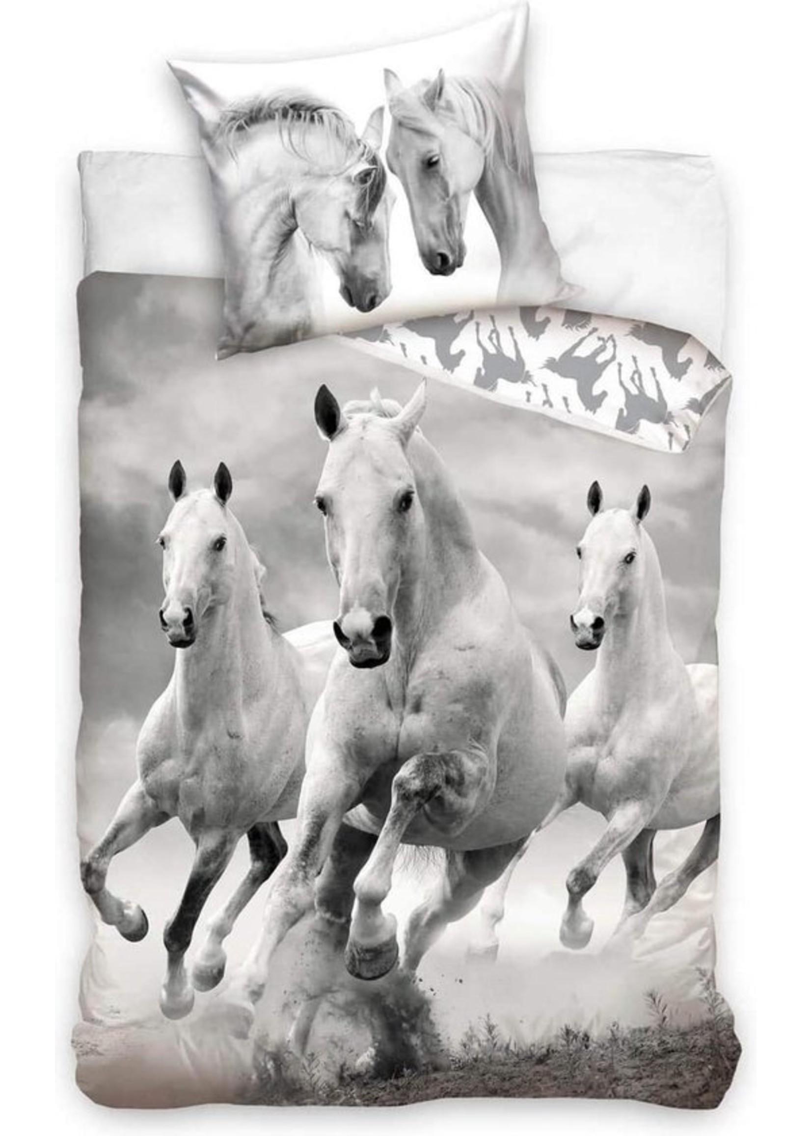 Paard Dekbedovertrek 140x200cm 100% Katoen