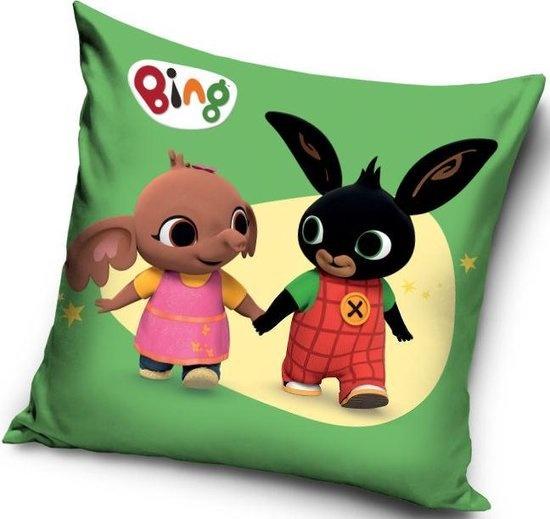 CharactersMania Bing Bunny - Sierkussen Kussen 40 x 40 cm inclusief vulling