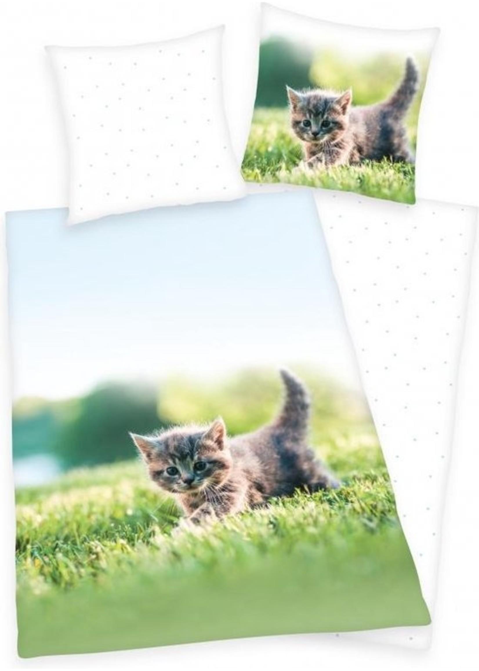 Katten Dekbedovertrek 140x200 Katoen Poes