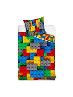 Lego Blokken Bricks Dekbedovertrek 140x200cm 100%Katoen