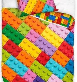 Carbotex Lego Blokken Bricks Dekbedovertrek 140x200cm 100%Katoen