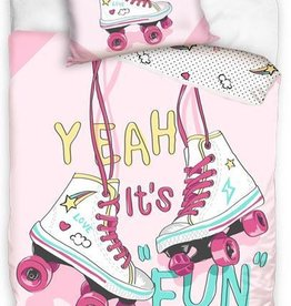CharactersMania Roller Skate skates Dekbedovertrek 140x200cm 100%Cotton Grote Kussensloop 70x90cm