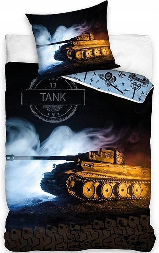 Dekbedovertrek Tank Landmacht  140x200 cm Katoen