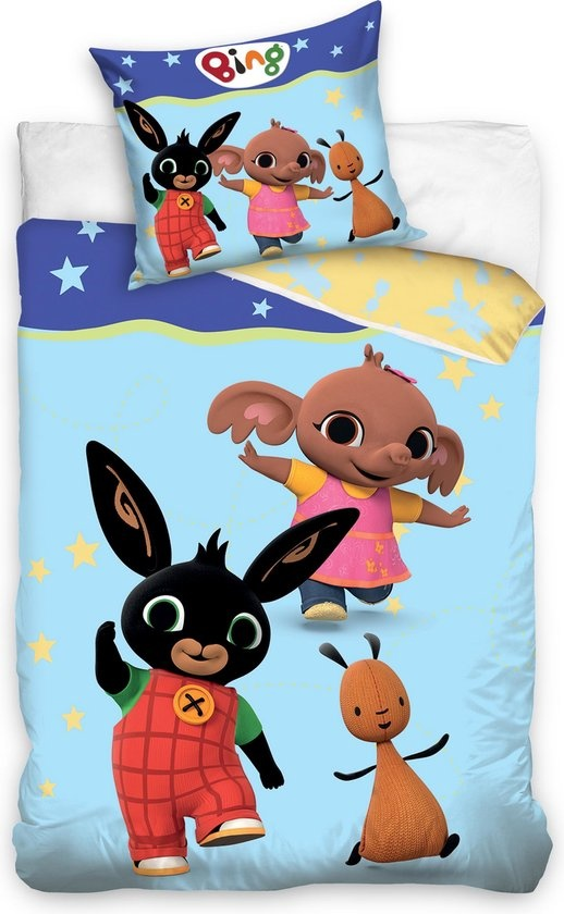 Bing Bunny Bing Bunny Junior Dekbedovertrek Blauw -