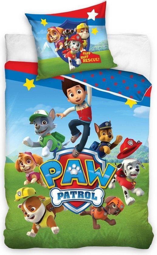 CharactersMania Paw Patrol dekbedovertrek 140x200cm Kussensloop 70x90cm 100% Katoen