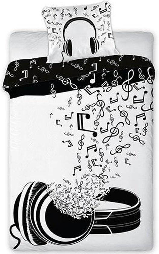 Muziek Music Dekbedovertrek  140 x 200 cm 100% Katoen