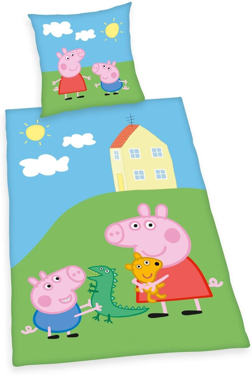 Peppa Pig Peppa Pig Dekbedovertrek 140x200 Katoen GroteKussensloop 70x90cm