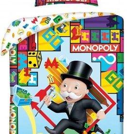 Monopoly Dekbedovertrek 140x200cm 100%Katoen Grote kussensloop 70x90cm