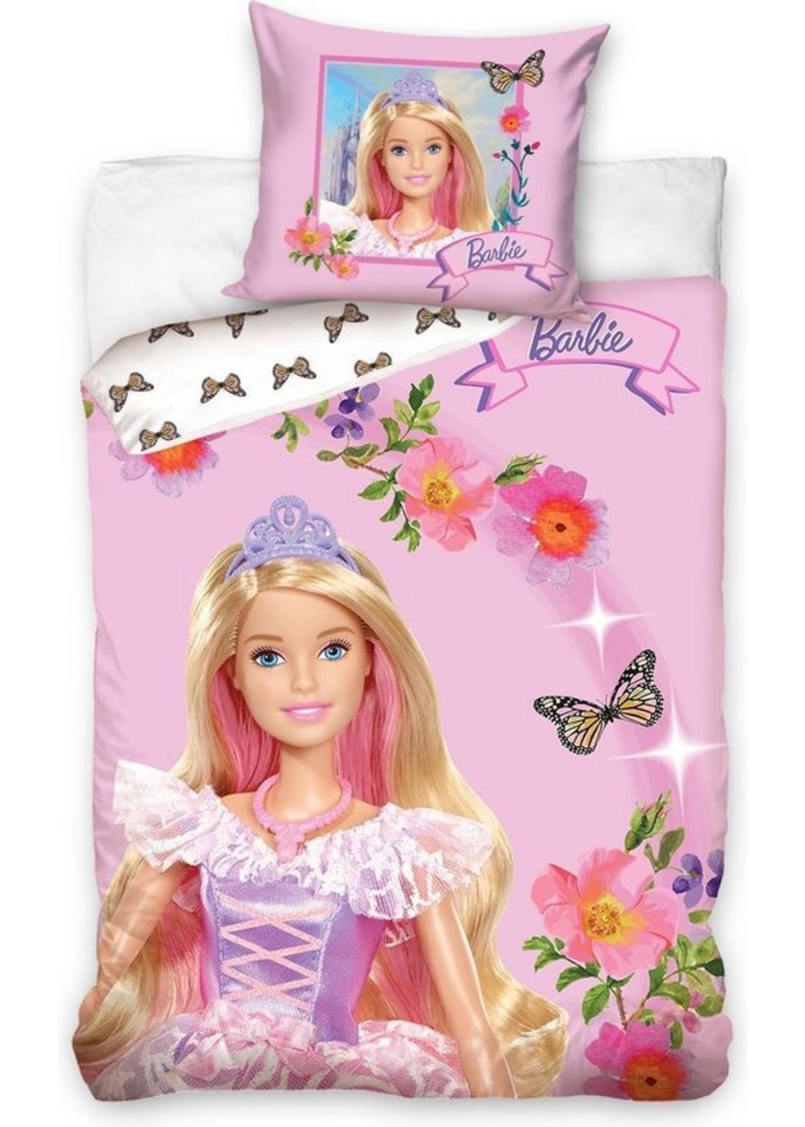 Barbie Barbie Dekbedovertrek 140x200cm Katoen Grote kussensloop 70x90cm