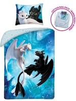 Dreamworks Dragons Single Duvet 140x200cm Pillowcase 70x90cm 100%Cotton
