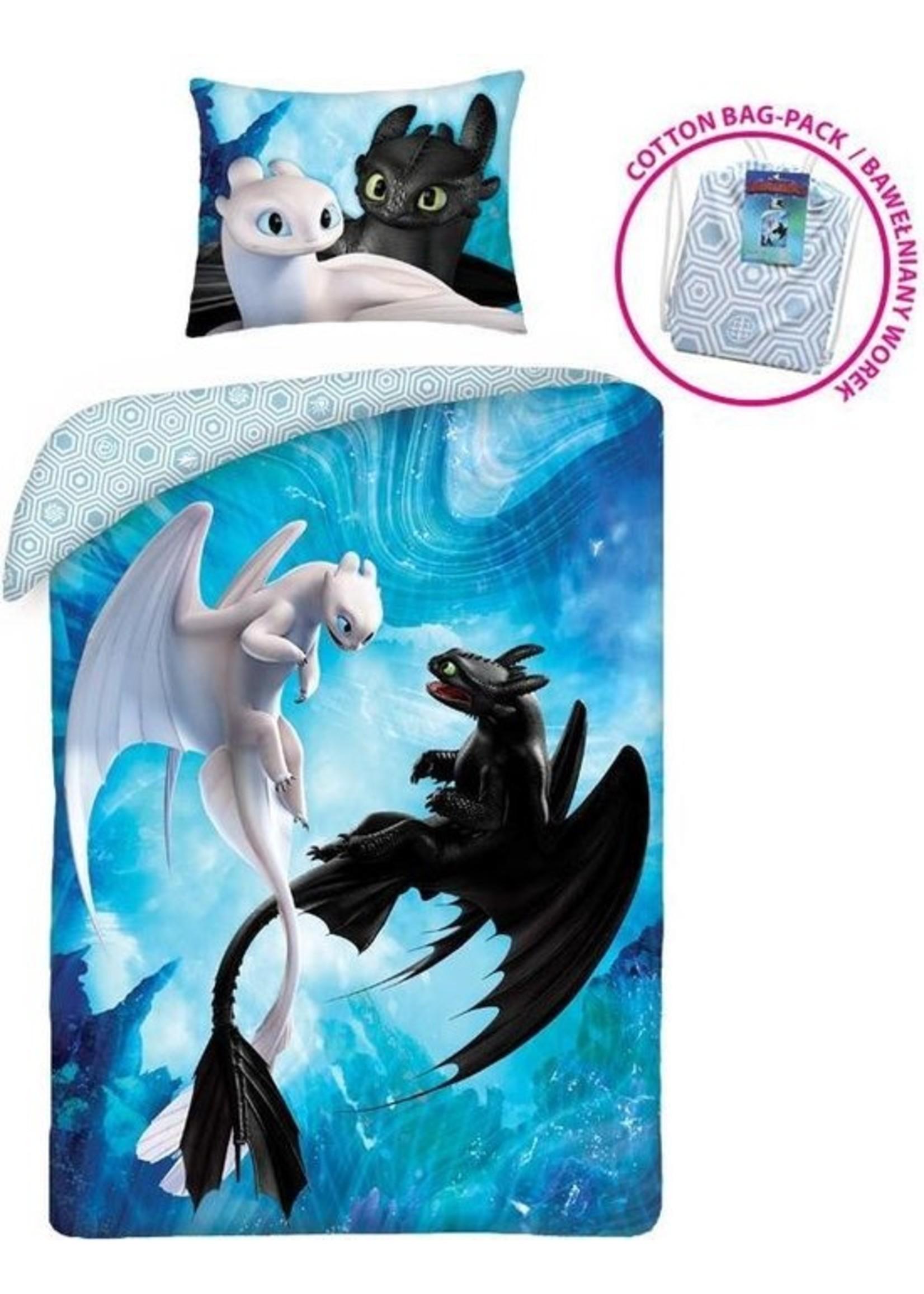 Dreamworks How to Train your Dragon Dekbedovertrek Toothless & Fury