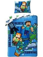 Minecraft Minecraft Dekbedovertrek 140x200cm 100%Katoen Grote Kussensloop 70x90cm