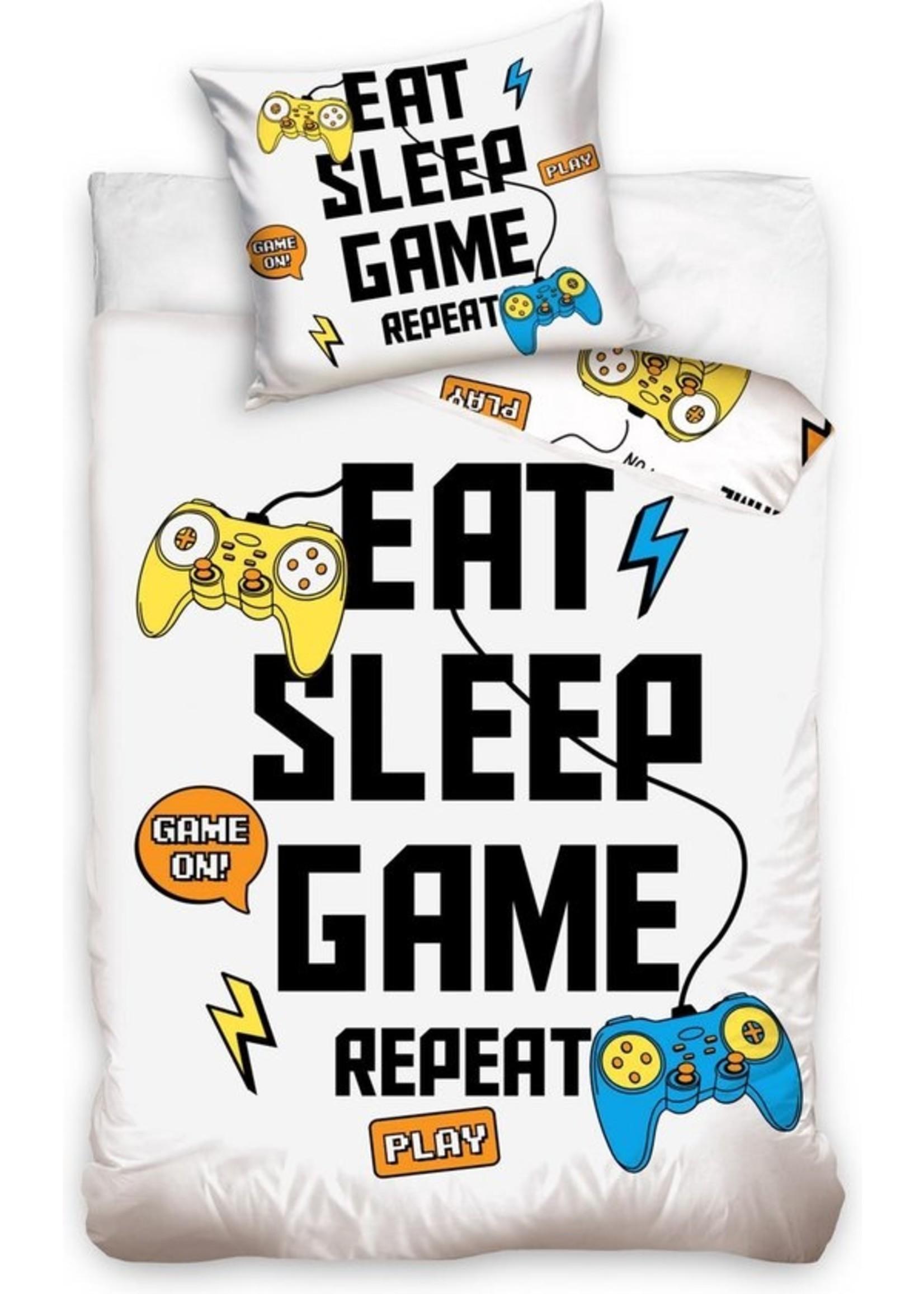 Game Dekbedovertrek Eat Sleep Game