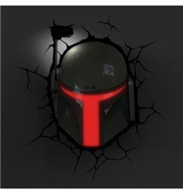 Star Wars Lamp Boba Fett 3D LED